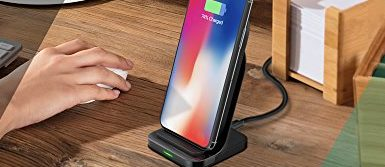 Normally $50, this wireless charging stand is 25 percent off today (Photo via Amazon)
