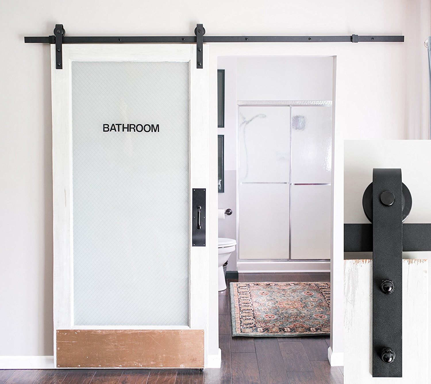 Normally $130, This Sliding Door Kit Is 42 Percent Off Today (Photo Via  Amazon