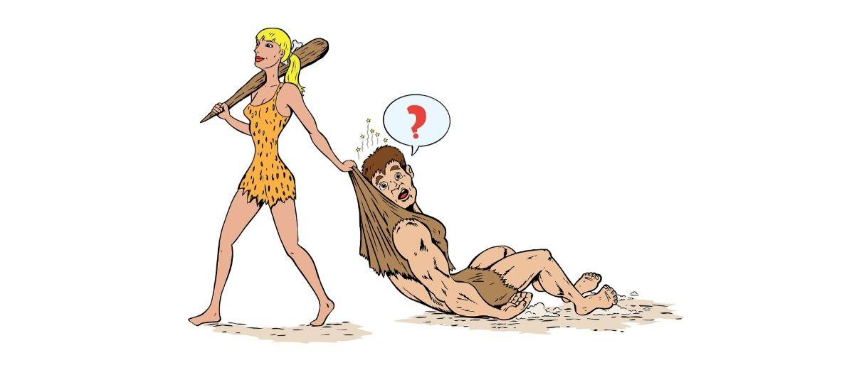 caveman cavewoman Shutterstock/Danomyte