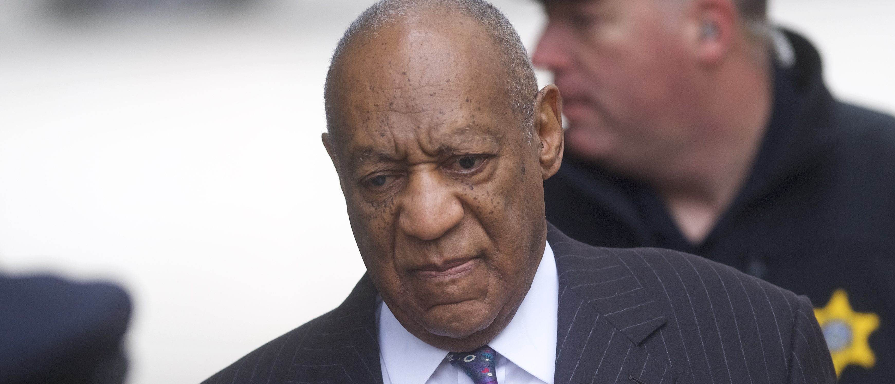 NORRISTOWN, PA - APRIL 9: Bill Cosby arrives at the Montgomery County Courthouse for the first day of his sexual assault retrial on April 9, 2018 in Norristown, Pennsylvania. A former Temple University employee alleges that the entertainer drugged and molested her in 2004 at his home in suburban Philadelphia. More than 40 women have accused the 80 year old entertainer of sexual assault. (Photo by Mark Makela/Getty Images)