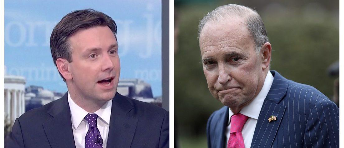 Josh Earnest, Larry Kudlow (MSNBC, Getty Images)