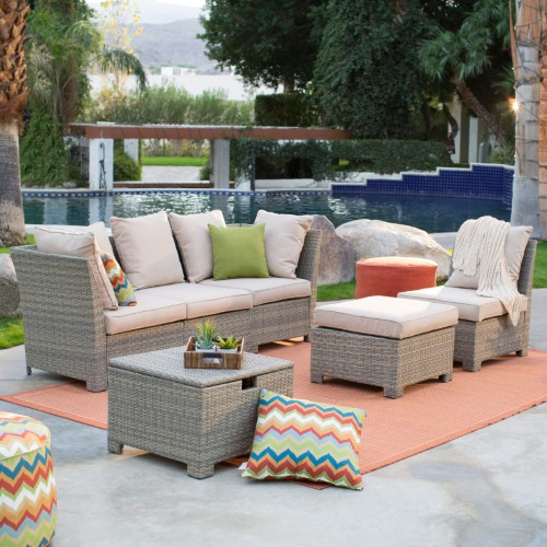 Normally $2000, this outdoor patio set is 60 percent off (Photo via Jet.com)