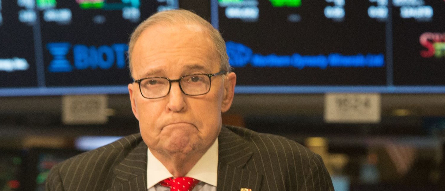 US conservative commentator and economic analyst Larry Kudlow speaks on the set of CNBC at the closing bell of the Dow Industrial Average at the New York Stock Exchange on March 8, 2018 in New York. (Photo: BRYAN R. SMITH/AFP/Getty Images)   Kudlow: GOP Working On Spending Reduction