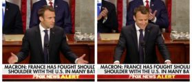 Macron Jokes About Kiss On Cheek From Trump – Joint Session Of Congress Erupts In Laughter