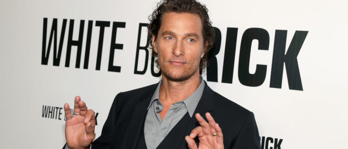matthew mcconaughey s comments on guns will surprise you the daily caller. Black Bedroom Furniture Sets. Home Design Ideas