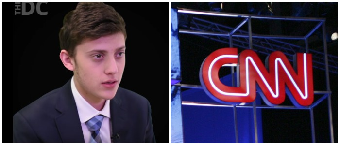 Left: Kashuv Daily Caller Youtube screenshot / Right: Photo credit should read Edward M. PIO RODA/AFP/Getty Images