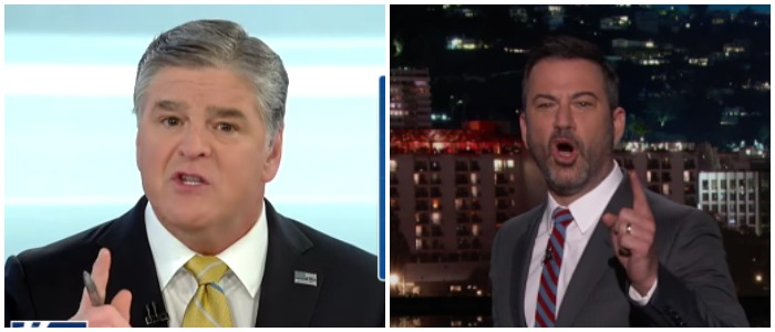 Sean Hannity Fox News Youtube screenshot / Jimmy Kimmel Live Youtube screenshot