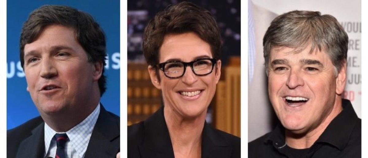 Tucker Carlson, Rachel Maddow, Sean Hannity (Getty Images)