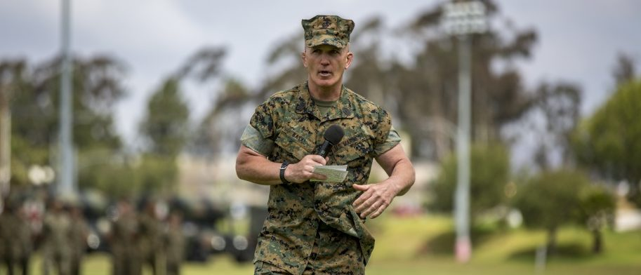 Bradley Kasal, one of the bravest Marines in the corps, retired Thursday. U.S. Marine Corps photo by Cpl. Jacob Farbo