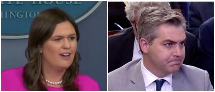 Acosta Sanders CNN screenshots