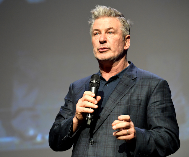 "SANTA BARBARA, CA - JANUARY 31: Alec Baldwin speaks onstage at the Opening Night Film ""The Public"" Presented by Belvedere Vodka during the 33rd Santa Barbara International Film Festival at Arlington Theatre on January 31, 2018 in Santa Barbara, California. (Photo by Matt Winkelmeyer/Getty Images for SBIFF)"