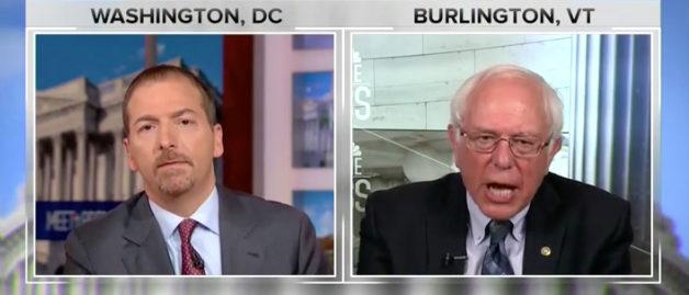 "Bernie Sanders appears on ""Meet the Press"" NBC screenshot"