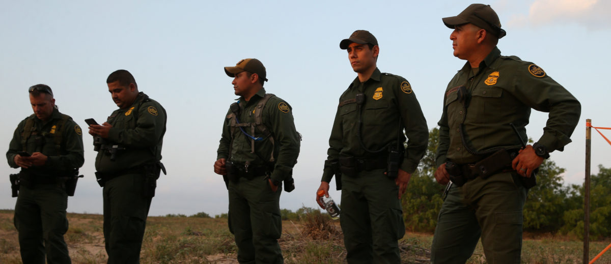 Border patrol agents briefly rest after seizing 297 pounds of marijuana in a drug bust by the Mexico-U.S. border in the Rio Grande Valley sector, near McAllen, Texas, U.S., April 5, 2018. REUTERS/Loren Elliott | DOI Agents Arrest 13 Illegals In 48 Hours