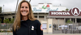 Brandi Chastain poses at the Rose Bowl May 10, 2017, in Pasadena, California. (Photo: Kirby Lee-USA TODAY Sports)