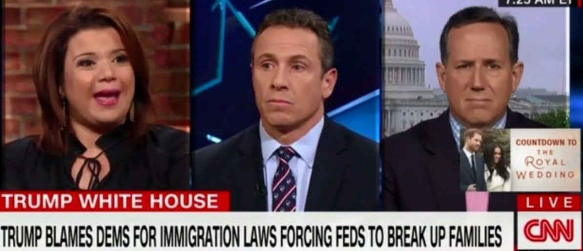 "CNN commentator Ana Navarro took issue with President Donald Trump's comments about violent illegal immigrants, on ""New Day"" Thursday, and accused him of taking like a Nazi and a ""slave owner."" (Photo: Screenshot/CNN)"