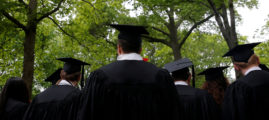 FILE PHOTO - Graduating students line up for the 366th Commencement Exercises at Harvard University in Cambridge, Massachusetts, U.S., May 25, 2017. REUTERS/Brian Snyder | Hippie Students Give Up Hunger Strike