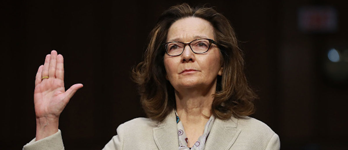 WASHINGTON, DC - MAY 09: Central Intelligence Agency Deputy Director Gina Haspel is sworn in before the Senate Intelligence Committee during her confirmation hearing to become the next CIA director in the Hart Senate Office Building May 9, 2018 in Washington, DC. If confirmed, Haspel would be the first woman to lead the nation's biggest spy agency. Haspel ran a secret 'black site' CIA prison in Thailand after September 11, 2001, where detainees were subjected to brutal interrogation techniques and she was later involved in approving the destruction of videotapes of interrogation sessions at that prison. (Photo by Chip Somodevilla/Getty Images)