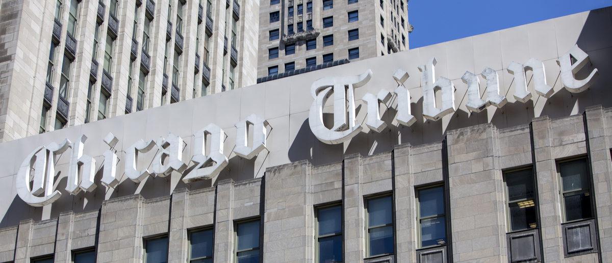 Tribune Tower, which houses the Chicago Tribune newsroom, in Chicago, Ill. (Shutterstock/Juli Hansen)