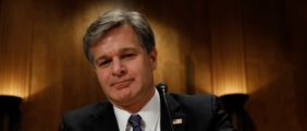 FBI Director Christopher Wray (REUTERS/KEVIN LAMARQUE) | FBI Has Not Requested Strzok Emails
