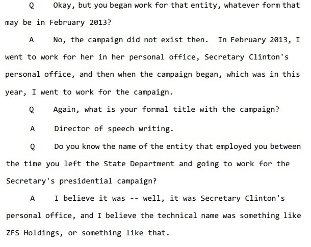 Clinton Speechwriter Testimony (SOURCE: U.S. Government Publishing Office/Screenshot)