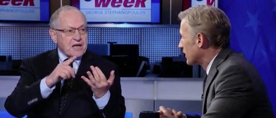 Alan Dershowitz appears on ABC's This Week. ABC screenshot.