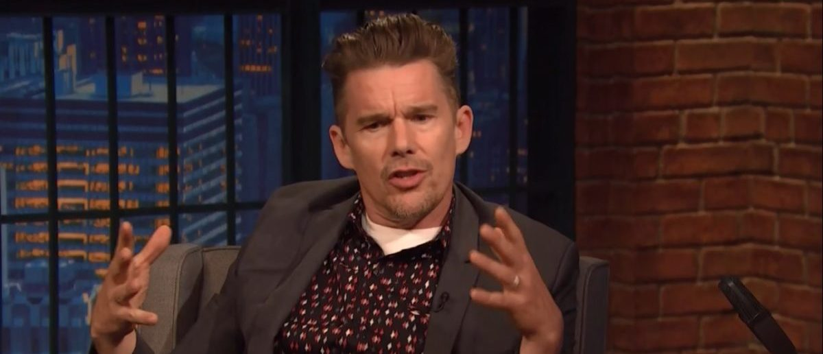 Ethan Hawke Says It's Hard To Sell A Movie Without Guns - NBC Seth Meyers - 05-16-18