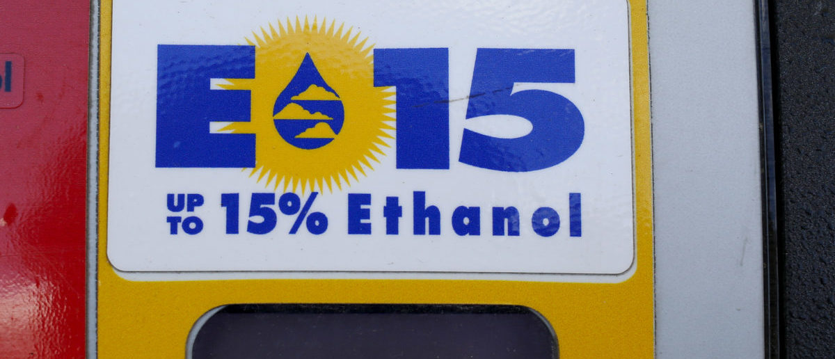 A gas pump displays the price for E15, a gasoline with 15 percent of ethanol, at a gas station in Nevada, Iowa, U.S., May 17, 2015. REUTERS/Jim Young/File Photo | Lobbyists Sue EPA Over Biofuels Waivers