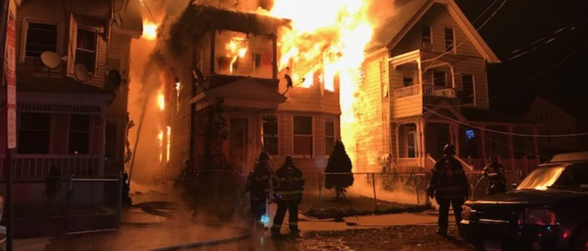 Firefighters Battle Inferno In CT - Credit - New Haven Firefighters