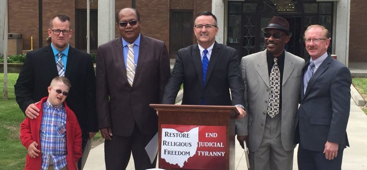 Five Of The Ohio Clergymen (Photo by James Streib/Provided to TheDCNF courtesy of Benjamin Mutti) | Clergy Blasts 'Federal Judiciary Tyranny'
