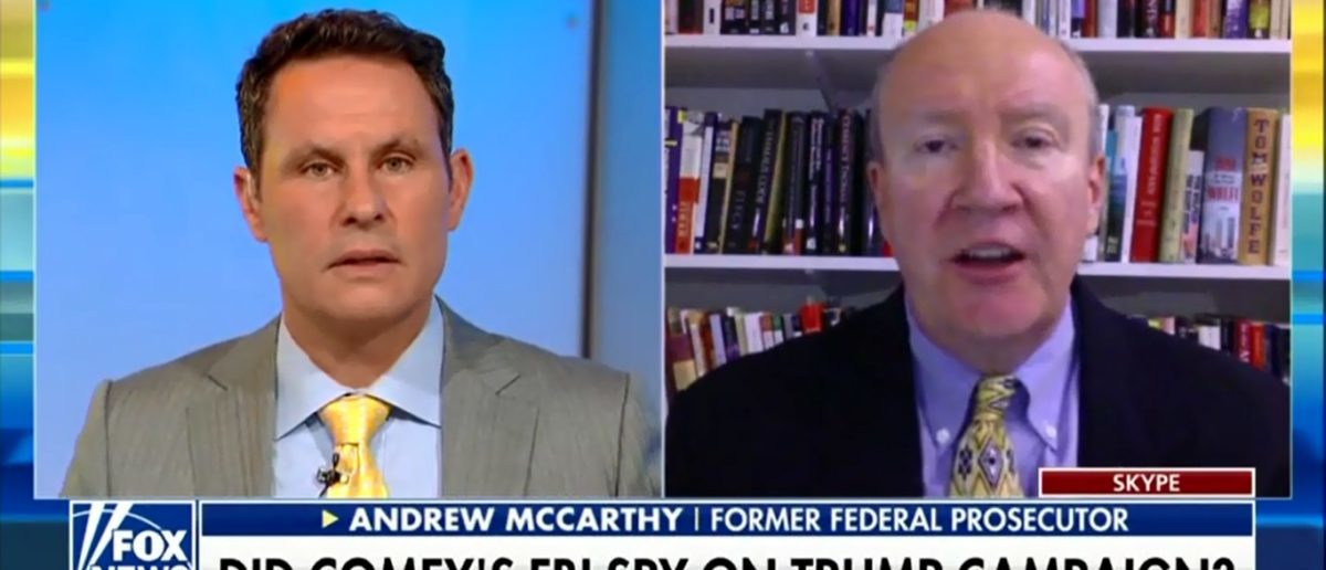 Former U.S. Attorney Andrew McCarthy Says Government Used Covert Powers To Investigate Trump Despite Having No Evidence Of A Crime - Fox & Friends 5-17-18