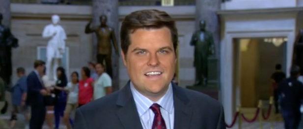 Rep. Matt Gaetz appears on Fox News Monday. Fox News screenshot