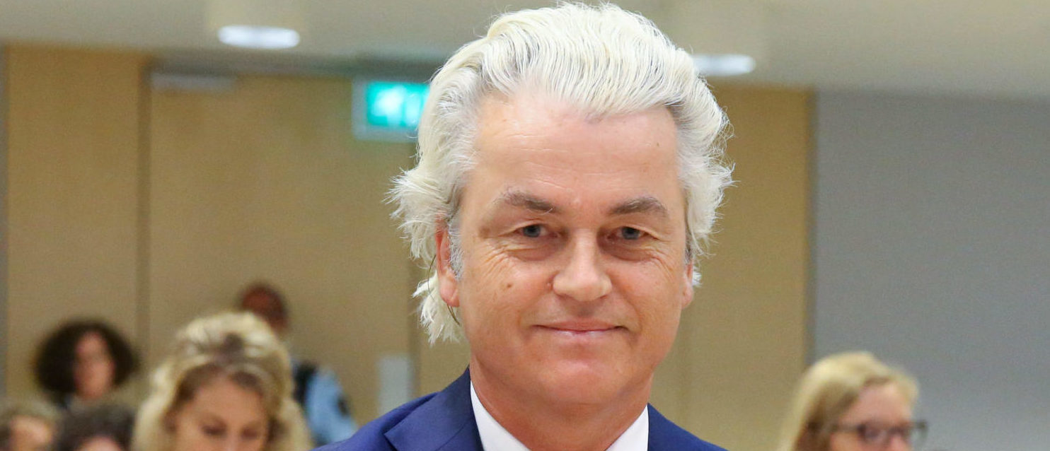 Dutch anti-Islam politician Geert Wilders appears in court for his appeal against a conviction for inciting discrimination accusing prosecutors of trying to destroy his right to free speech, in Amsterdam, Netherlands, May 17, 2018. REUTERS/Francois Walschaerts
