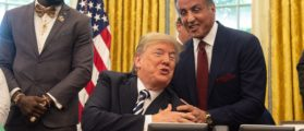 Trump, Sylvester Stallone Spar At The White House