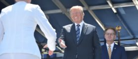 WATCH: Trump Shakes Literally Every Naval Academy Graduate's Hand