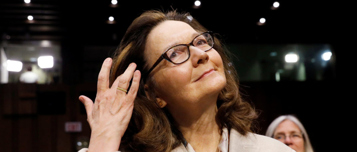 FILE PHOTO: Acting CIA Director Gina Haspel prepares to testify at her Senate Intelligence Committee confirmation hearing on Capitol Hill in Washington, DC, U.S., May 9, 2018. REUTERS/Kevin Lamarque/File Photo