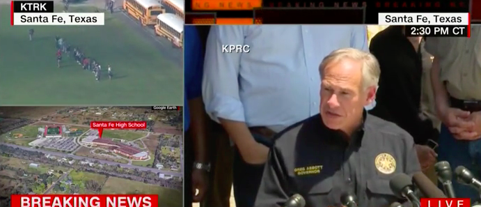 Texas Gov. Abbott says there were 'no wrning signs' before Santa Fe school shooting (MSNBC/screenshot)