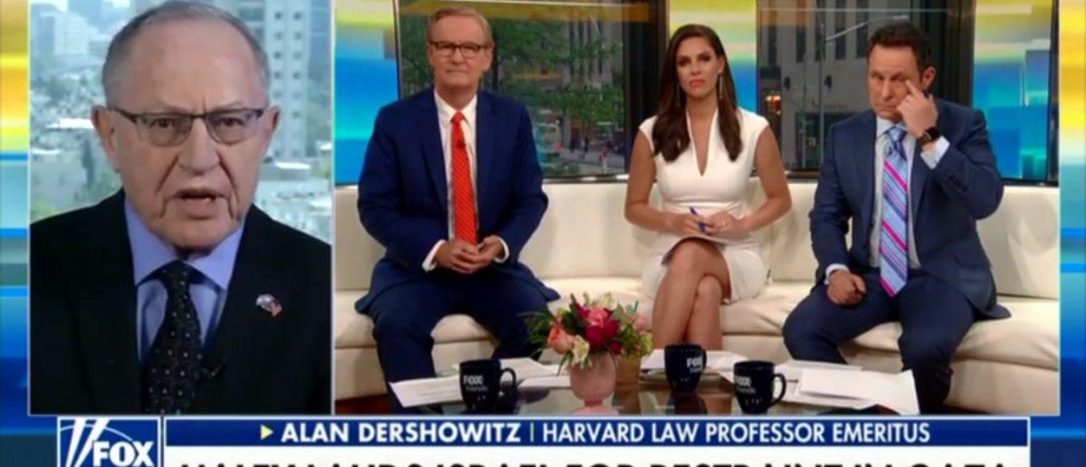 Harvard Law Professor Alan Dershowitz Decries Bias Mainstream Media For Emboldening Terrorism - Fox & Friends 5-16-18