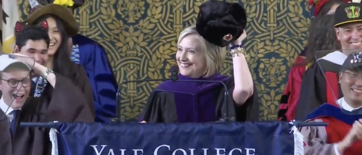 Hillary Clinton [Video screenshot/Yale University) | Hillary Clinton Still 'Not Over' Trump