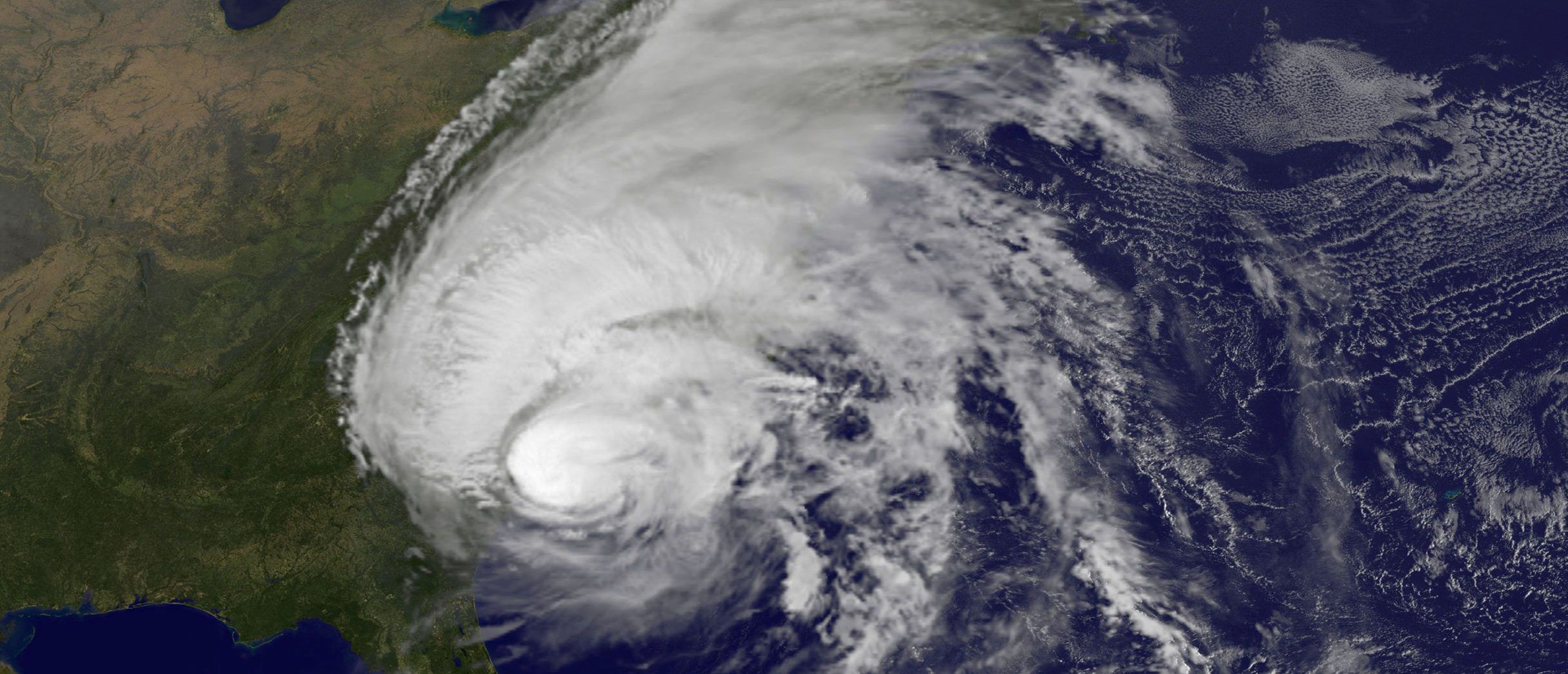 FILE PHOTO - Hurricane Matthew is pictured along the southeastern U.S. coast by NASA's NOAA's GOES-East satellite at 7:45 a.m. EDT on on October 8, 2016. Courtesy NASA/NOAA GOES Project/Handout via REUTERS ATTENTION EDITORS - THIS IMAGE WAS PROVIDED BY A THIRD PARTY. EDITORIAL USE ONLY. - RC110EA8ABA0