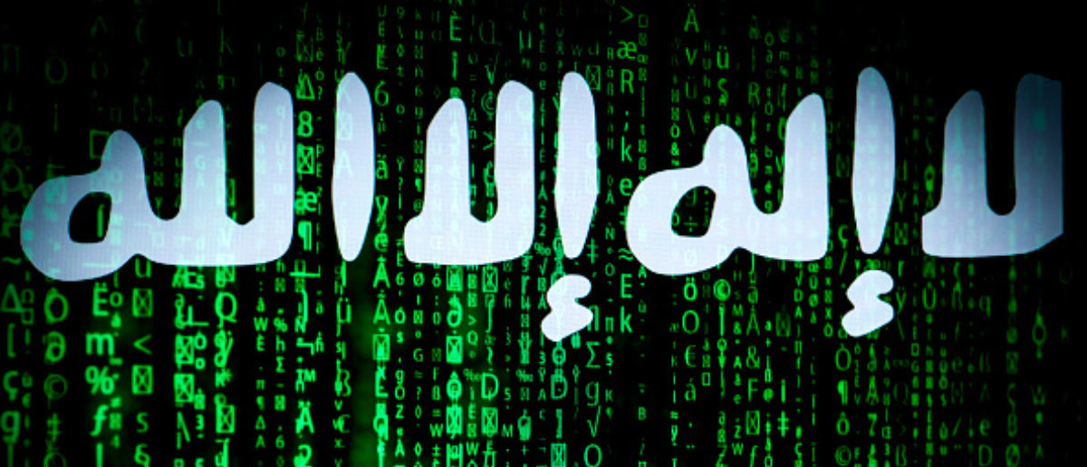 The ISIS logo is seen on a computer screen in this photo illustration on November 8, 2017. (Photo: Jaap Arriens/NurPhoto via Getty Images)