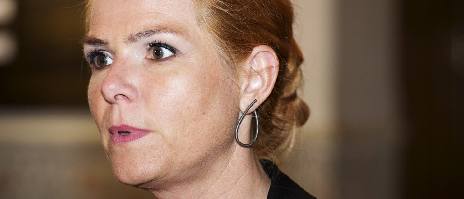 Inger Stoejberg, Denmark's Minister for Immigration, Integration and Housing, attends a vote on several draft laws, including amendments to the Active Social Policy Act, the Active Employment Act and the Integration Act, at the Danish Parliament in Copenhagen August 26, 2015. REUTERS/Claus Bech/Scanpix Denmark