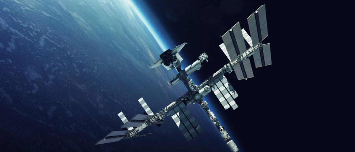 International Space Station over the planet Earth. Elements of this image furnished by NASA (Image: Shutterstock.com) | Crus Champions NASA's ISS Funding