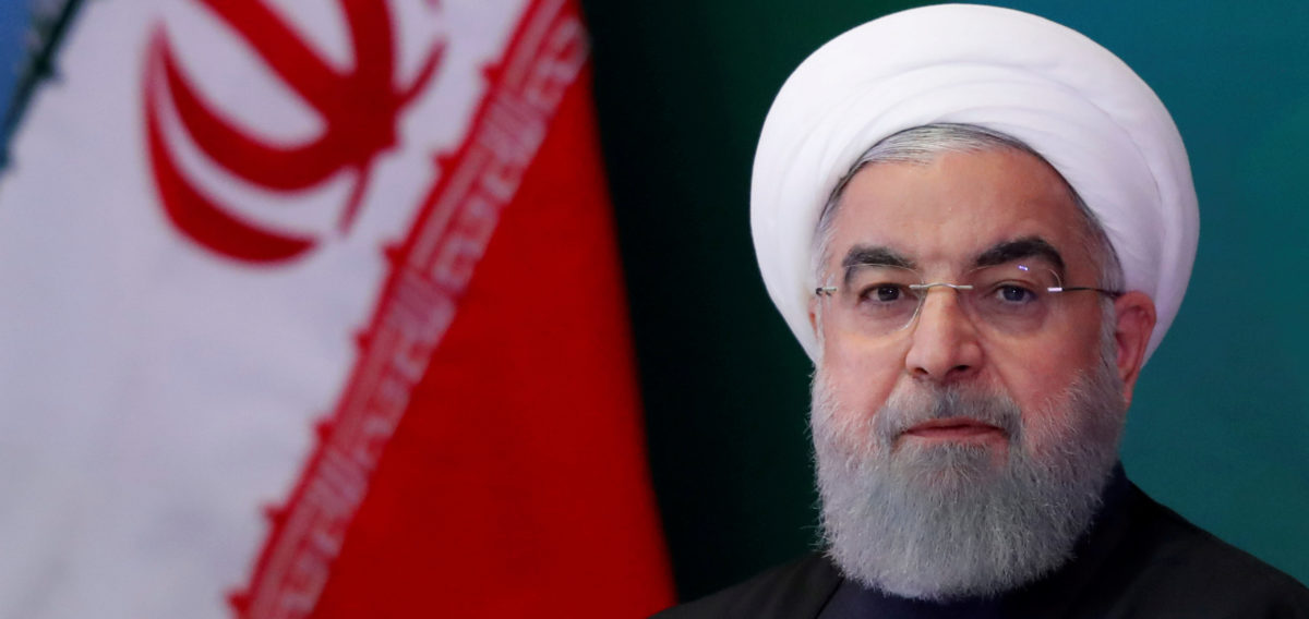 FILE PHOTO: Iranian President Hassan Rouhani attends a meeting with Muslim leaders and scholars in Hyderabad, India, February 15, 2018. REUTERS/Danish Siddiqui | Iran Deal Withdraw Would Benefit US Shale