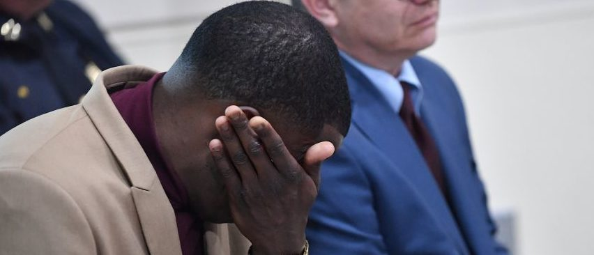NASHVILLE, TN - APRIL 22: Waffle House patron James Shaw, Jr. who stopped the shooting at a Waffle House where a gunman opened fire killing four and injuring two attends a press conference on April 22, 2018 in Nashville, Tennessee. . Shaw, Jr., 29, took action disarming the gunman and ultimately forcing him out of the Waffle House restaurant. Travis Reinking, 29, of Morton, IL, is person of interest in the shooting and is suspected to have left the scene naked. (Photo by Jason Davis/Getty Images)