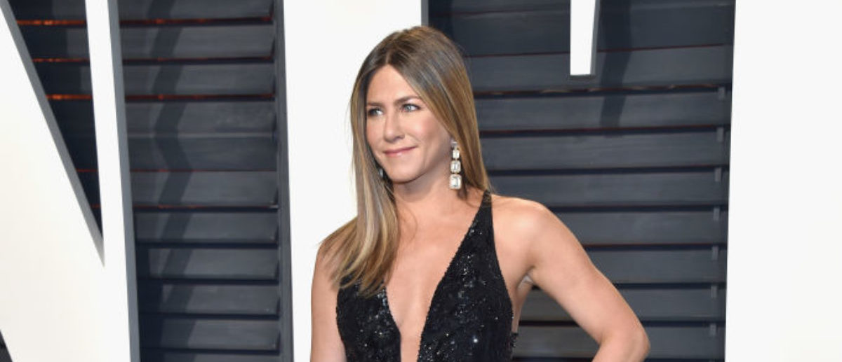 BEVERLY HILLS, CA - FEBRUARY 26: Actor Jennifer Aniston attends the 2017 Vanity Fair Oscar Party hosted by Graydon Carter at Wallis Annenberg Center for the Performing Arts on February 26, 2017 in Beverly Hills, California. (Photo by Pascal Le Segretain/Getty Images)