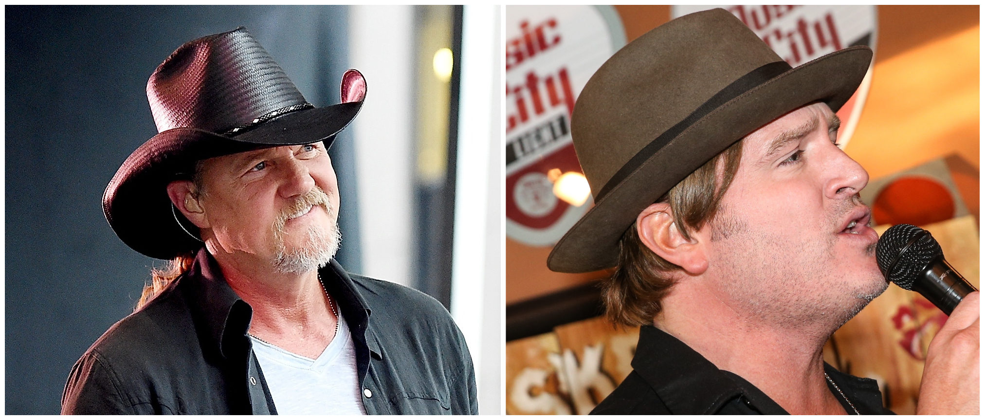 Country music singers Trace Adkins and Jerrod Neiman. (Getty Images)