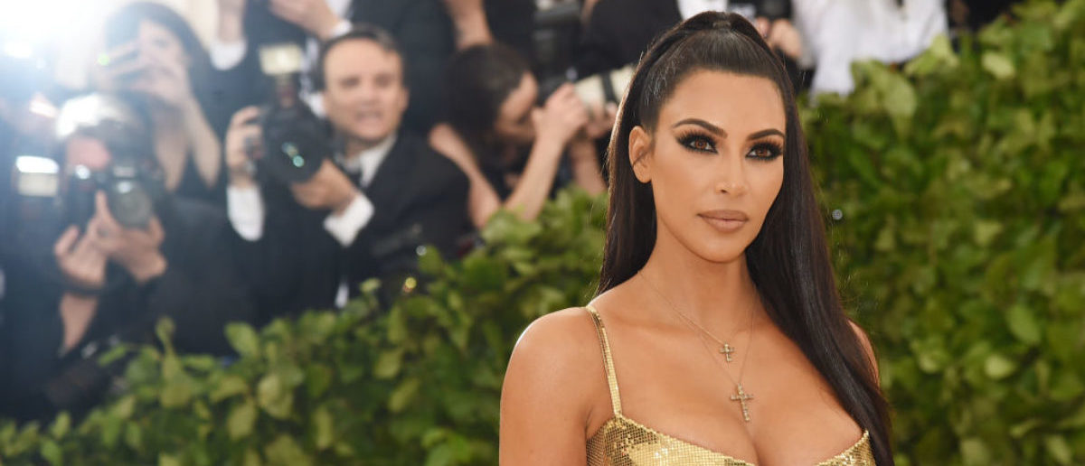 NEW YORK, NY - MAY 07: Kim Kardashian attends the Heavenly Bodies: Fashion & The Catholic Imagination Costume Institute Gala at The Metropolitan Museum of Art on May 7, 2018 in New York City. (Photo by Jamie McCarthy/Getty Images)