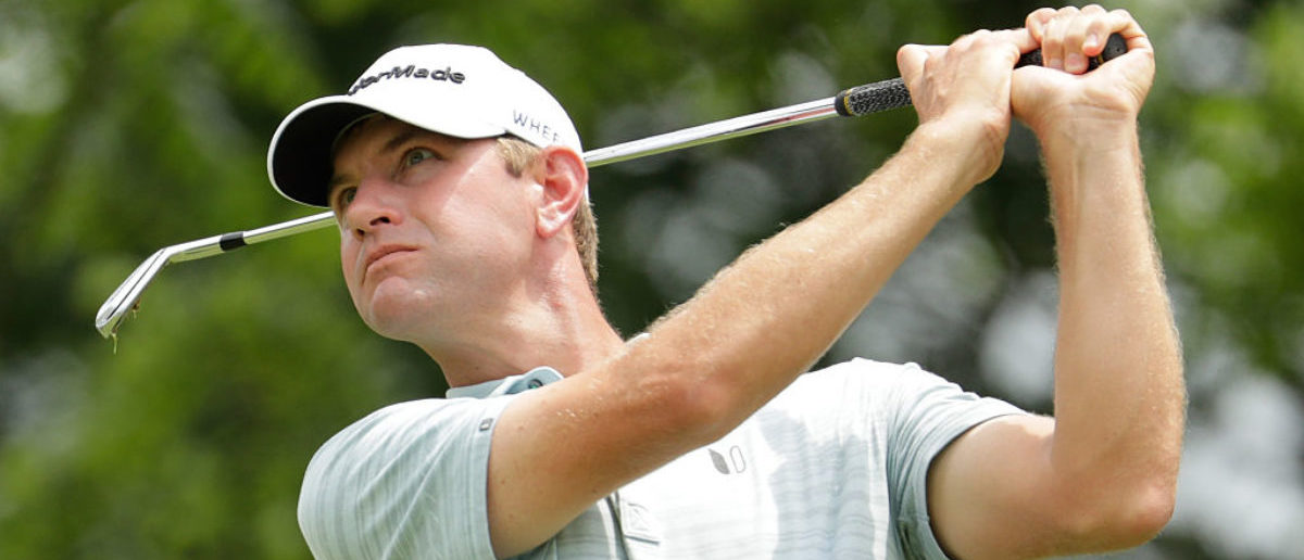 DUBLIN, OH - JUNE 04:  Lucas Glover watches his tee shot on the second hole during the third round of The Memorial Tournament at Muirfield Village Golf Club on June 4, 2016 in Dublin, Ohio.  (Photo by Andy Lyons/Getty Images)