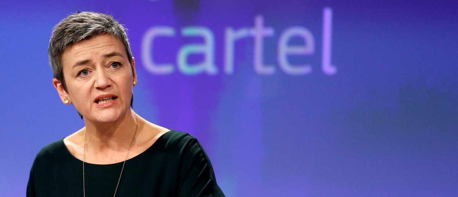 European Competition Commissioner Margrethe Vestager holds a news conference at the EU Commission's headquarters in Brussels, Belgium, March 21, 2018. REUTERS/Francois Lenoir