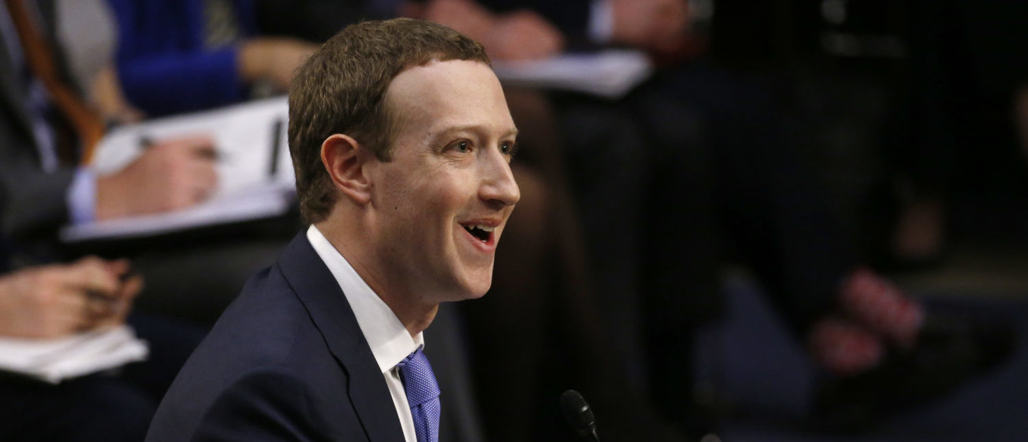 Facebook CEO Mark Zuckerberg responds to a question about his own personal information becoming public as he testifies before a joint Senate Judiciary and Commerce Committees hearing regarding the company's use and protection of user data, on Capitol Hill in Washington, U.S., April 10, 2018. REUTERS/Leah Millis